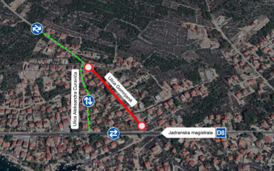 Od ponedjeljka, 26. listopada nova prometna regulacija Ulicom Gomnjanik, prema školi na Brodarici