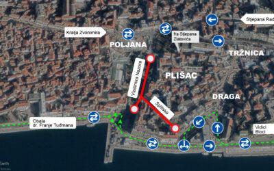 Od ponedjeljka za promet se zatvara Splitska ulica, promet prema Dolcu obalom dvosmjerno