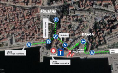 Za promet se otvaraju ulice Vladimira Nazora i Splitska, nova regulacija prometa na Obali hrvatske mornarice