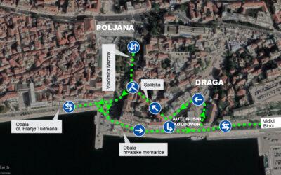 Radovi gotovi – normalizacija prometa na Obali hrvatske mornarice i oko Autobusnog kolodvora